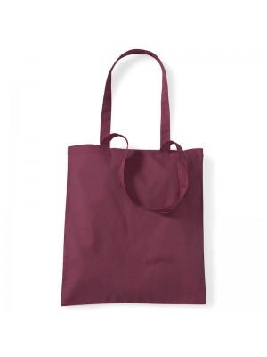 Burgundy Westford Mill Cotton Promo Tote Bag