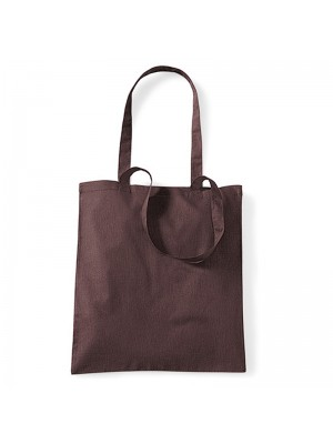 Chocolate  Westford Mill Cotton Promo Tote Bag