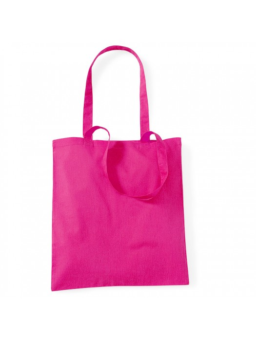 Fuchsia Westford Mill Cotton Promo Tote Bag