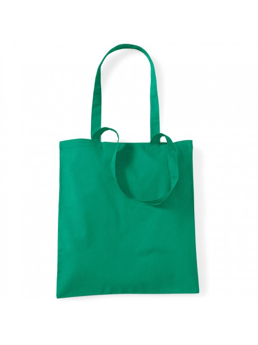 Kelly Green Westford Mill Cotton Promo Tote Bag