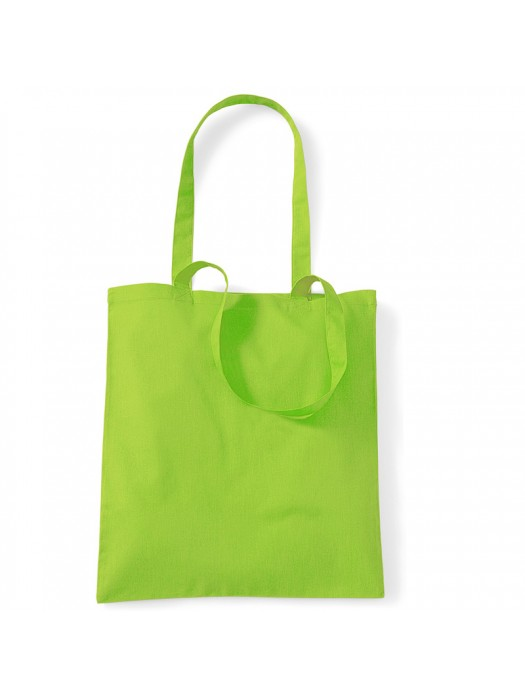 Lime Green Westford Mill Cotton Promo Tote Bag