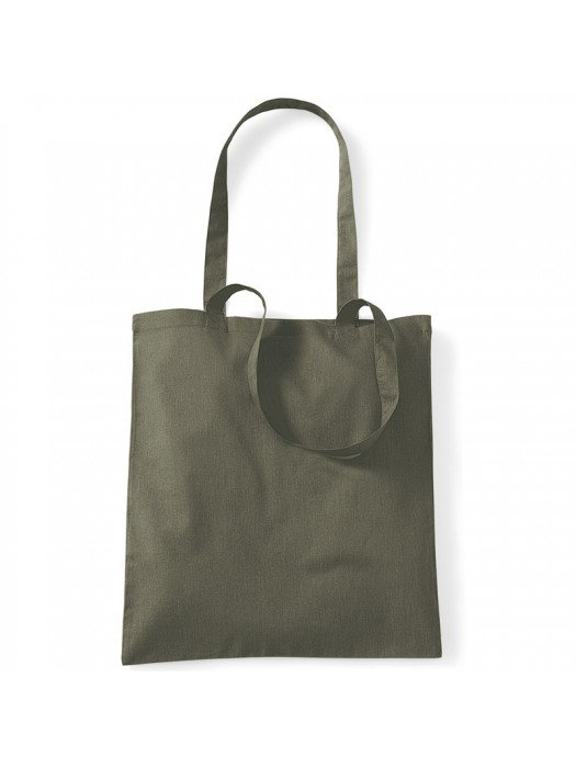 Olive Green Westford Mill Cotton Promo Tote Bag