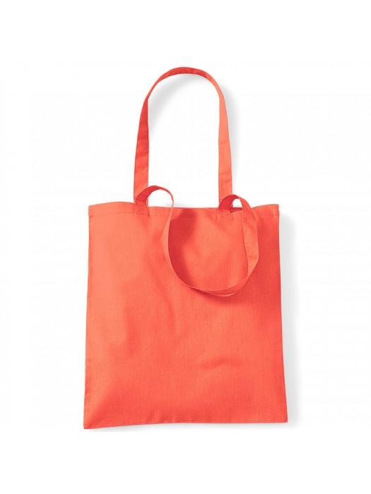 Orange Westford Mill Cotton Promo Tote Bag
