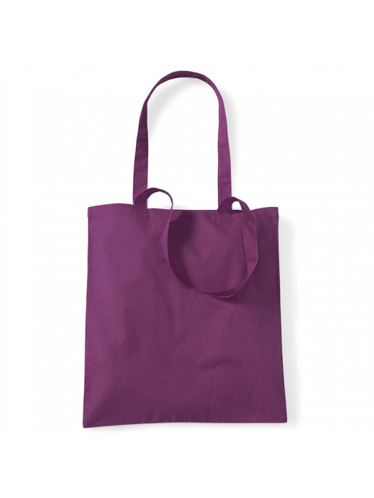 Purple Westford Mill Cotton Promo Tote Bag