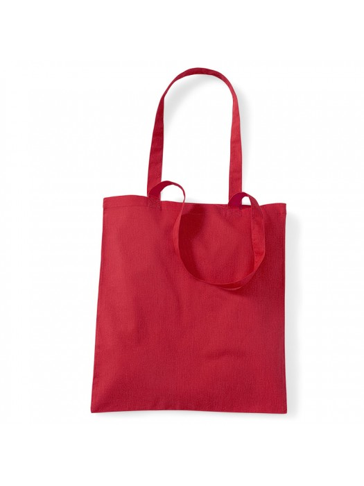 Classic Red Westford Mill Cotton Promo Tote Bag