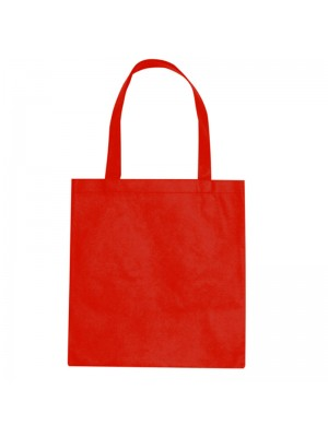 Bright Red SnS Event 100% woven durable cotton tote bag