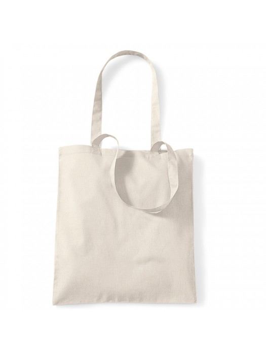 Sand Westford Mill Cotton Promo Tote Bag