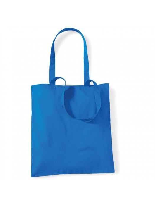 Sapphire Blue Westford Mill Cotton Promo Tote Bag