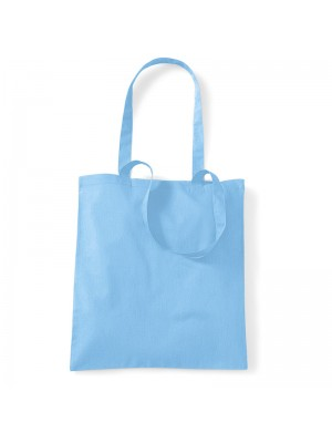 Sky Blue SnS Event 100% woven durable cotton tote bag