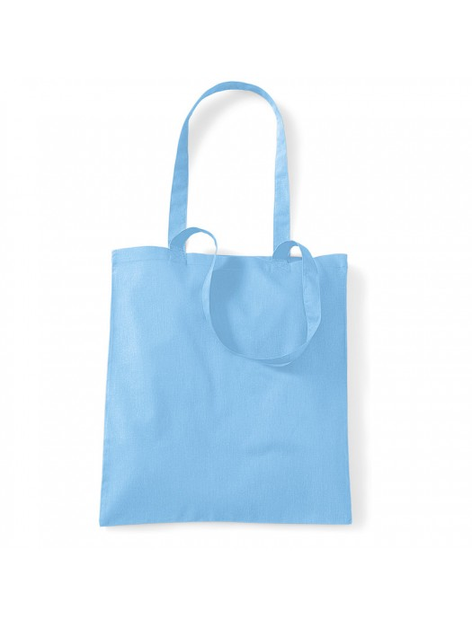 Sky Blue Westford Mill Cotton Promo Tote Bag