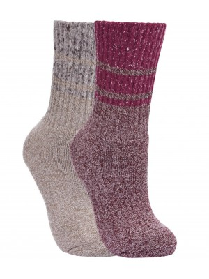 Plain LADIES HADLEY BOOT SOCKS TRESPASS