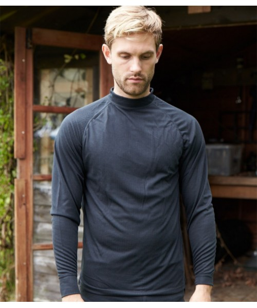 Plain FLEX360 LONG SLEEVE THERMAL TOP TRESPASS 170 GSM