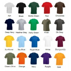 100 Coloured T Shirt with 1 colour print Deal 2 - Stars & Stripes