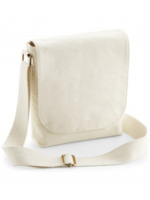 Plain FAIRTRADE CANVAS MINI MESSENGER BAG WESTFORD MILL 407 GSM