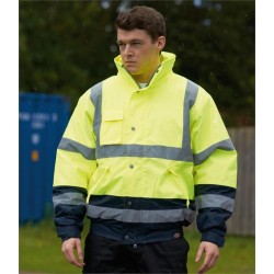Plain HI-VIS TWO TONE PILOT JACKET DICKIES 320 GSM