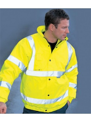 Plain HI-VIS BOMBER JACKET DICKIES 180 GSM