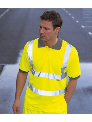 Plain HI-VIS POLO SHIRT DICKIES 170 GSM