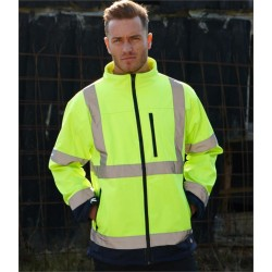 Plain HI-VIS TWO-TONE SOFT SHELL JACKET DICKIES 300 GSM