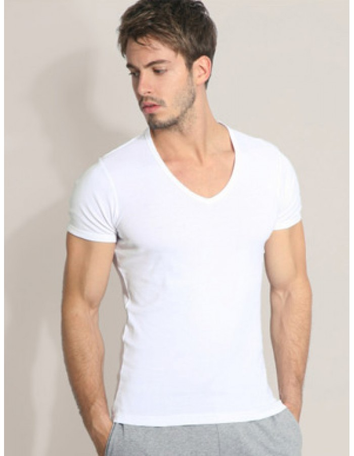 B&C Collection Short Sleeved White Crew Neck T-Shirt