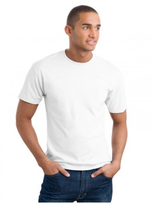 Gildan 169gsm White 100% Polyester Short Sleeve T-Shirt