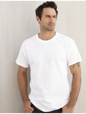 Anvil Adult 159 GSM White 50% Polyester,25% Ringspun, 25% Viscose T-Shirt