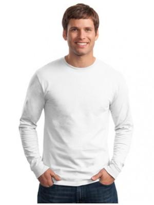 B&C Adult 145 GSM White 100% Ringspun Cotton Long sleeve T-Shirt
