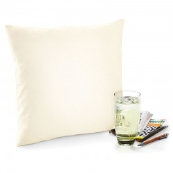Plain Fairtrade cotton canvas cushion cover WESTFORD MILL S – 110, M - 115, L - 110 GSM