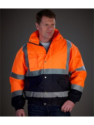 Plain HI-VIS TWO TONE BOMBER JACKET YOKO 300 GSM