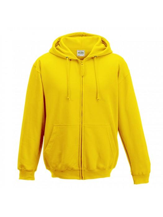 Plain Yellow Zip up AWD Hoodie