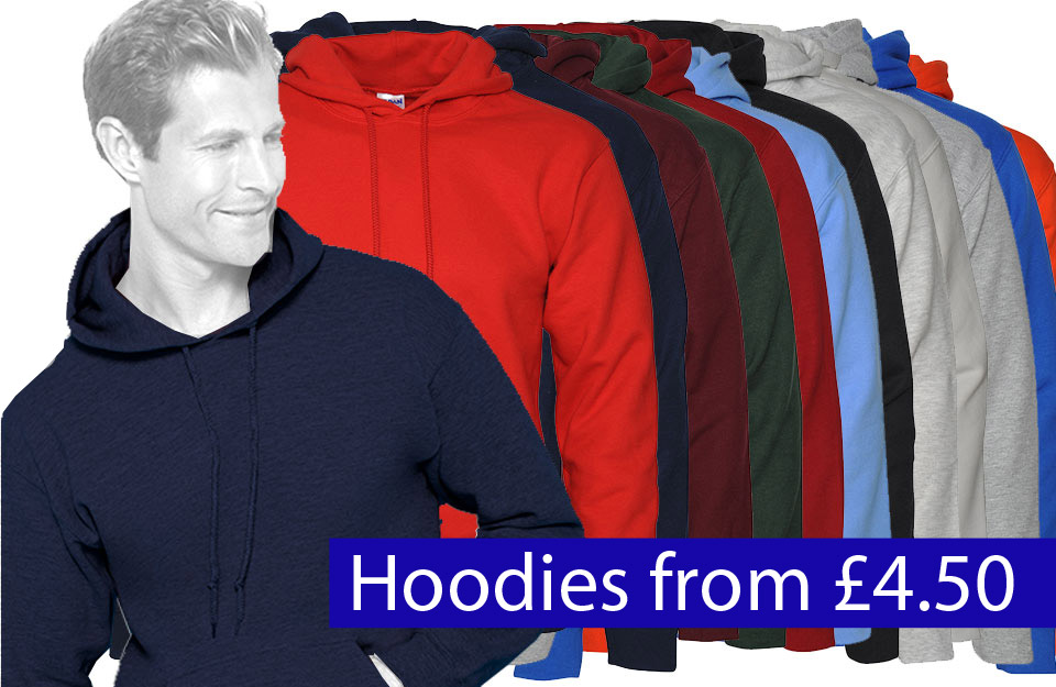 hoodies from £4.50