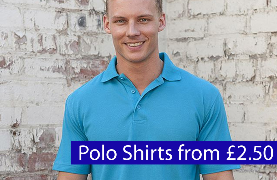 polo shirts from £2.50