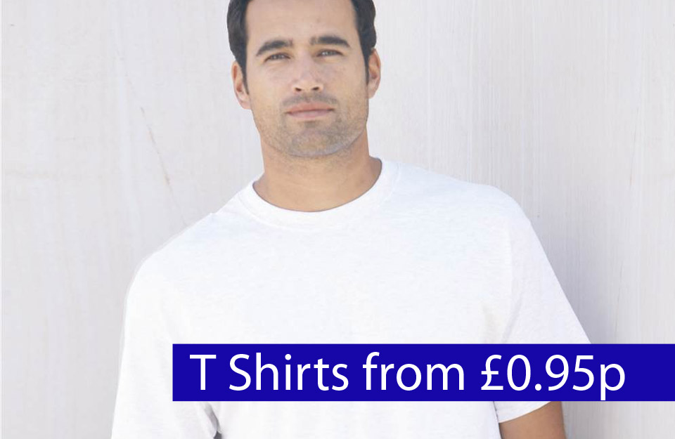 white tees from £0.95p