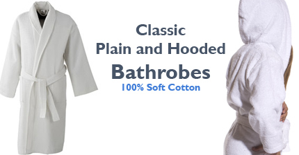 plain robes in cotton terry